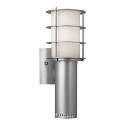 Philips Forecast Lighting - Hollywood Hills Outdoor Torch Wall Sconce by Philips Forecast Lighting - The Philips Forecast Lighting Hollywood Hills Outdoor Torch Wall Sconce evokes early Hollywood glamour while creating a bright illumination for exterior spaces. Features etched White Opal glass with a lustrous Vista Silver finish. For more than 40 years, Philips Forecast has offered their distinctive line of contemporary yet accessible lighting for the home. The Philips Forecast lighting collection runs the gamut of modern design, from simple and transitional to organic to modern industrial. Whatever the style of the fixture may be, attention to detail and quality ensures that it will illuminate and enhance spaces indoors or out for many years.
