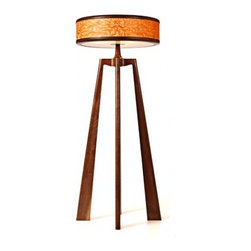 EcoFirstArt - Manhattan Light - Warm and winsome, this chic lamp is an absolute showstopper. With a well-rounded shade of solid walnut standing tall on three legs, it will illuminate your space with contemporary style that's totally timeless.