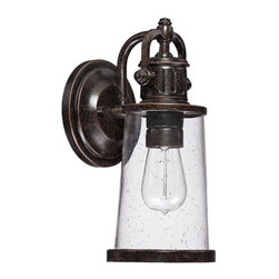 Quoizel - Quoizel SDN8405 Steadman 1 Light Outdoor Wall Sconce with Clear Seedy Glass - Adorn your outdoor d�cor with this fetching 1 light outdoor wall sconce featuring classy clear seedy glass.Features: