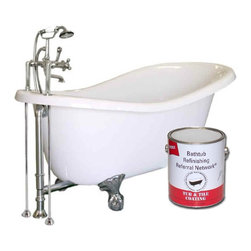 Brush-On Bathtub Refinishing Paint Kit - Bathtub and tile refinishing paint products for porcelain, fiberglass, ceramic tile and cultured marble. Pint or Quart