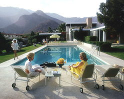 """Oversized Slim Aarons - Poolside Gossip Print - Unframed - 39""""x28"""" - This print was created after the original image."""