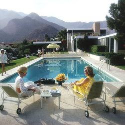 "Oversized Slim Aarons - Poolside Gossip Print - Unframed - 39""x28"" - This print was created after the original image."