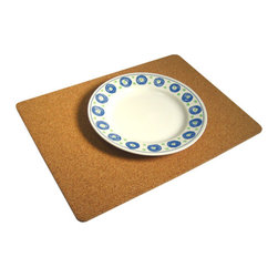 The Felt Store - 10.5 x 14.5 x 0.25 Inch Cork Placemat Set Of 2 - Adorn your table with naturally beautiful material! The Cork Placemat Set includes 2 placemats made entirely of fine grained cork. Each placemat measures 10.5 inches wide x 14.5 inches long, and is 0.25 inches thick. Your cutlery and plates will look fantastic on this natural material placemat!