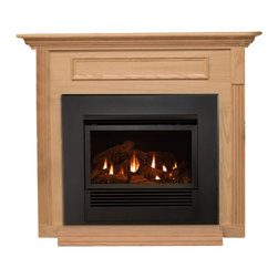 Empire - Mantis Bay Window Fireplace Package - Natural Gas - The Mantis stands alone as the most efficient fireplace you can buy. The concealed three-stage heat exchanger captures more than 90 percent of the heat energy from the burner and directs this warm air into your home - not up the flue. With so much of its heat extracted, the exhaust can be vented outdoors in conventional PVC piping - saving money, labor, and space on installation compared to traditional direct-vent systems. These items are considered a special order and cannot be cancelled or returned unless damaged.