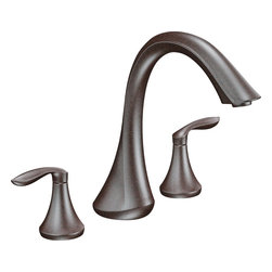 "Moen - Moen T943ORB Oil Rubbed Bronze Roman Tub Trim 8""-16"" Two Lever Handles, ADA - Moen T943ORB is part of the Eva bath collection. Moen T943ORB has an Oil Rubbed Bronze finish. Moen T943ORB is a roman tub trim 3-hole 8"" - 16"" installation. Roman Tub faucet is a deck-mount with 8 1/2"" long and 9 1/2"" high arc spout for conventional styling. Moen T943ORB Roman Tub Trim fits the MPact common valve system, and requires Moen's 4992 or 4993 valve. Valve sold separately. Moen T943ORB is approved by ADA. Oil Rubbed Bronze is an exclusive finish from Moen and provides style and durability. Moen T943ORB metal lever handle meets all requirements ofADA ICC/ANSI A117.1 and CSA B-125, ASME A112.18.1M. Lifetime Limited Warranty and 5 Year commercial"