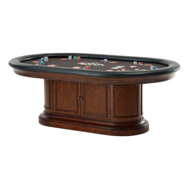 Howard Miller - Howard Miller Bonavista Pub and Game Table - Game on! Your home will become the neighborhood hangout when you bring in this full-on game table complete with poker chips and playing cards. Pull-out drink holders, padded edges and two-door shelved storage keep your games handy. Hope you like late hours!