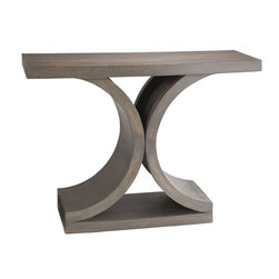 Mid-Century Modern Console Table - Inspired by European design of the mid 20th century, this console table is the perfect place to set your coffee or that Great American Novel you've finally decided to read.
