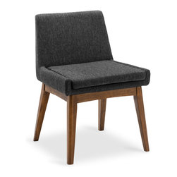 Bryght - 2 x Chanel Liquorice Cocoa Dining Chair - Stunning good looks and comfort define the Chanel dining chair. It's splayed leg design sets the stage for a mid century modern appeal to your interiors.