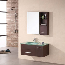 "Design Elements LLC - Bathroom Sink Vanity, 55"" Single Vessel Sink, Springfield - Faucets not included"