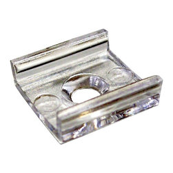 Nora Lighting - NATL-401 Clear Acrylic Mounting Clips - Pack of 15 - Clear acrylic mounting clips for use with Nora standard LED tape light. Pack of 15.