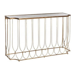 Aidan Gray - Aidan Gray Wishbone Console Table w/ Antique Mirror - Wishbone Console Table with Antique Mirror*Aidan Gray's products are made by hand and with authentic materials.