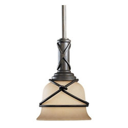 Minka-Lavery - Aspen II Mini Pendant by Minka-Lavery - The Minka Lavery Aspen II Drop Rod Pendant exhibits the finesse of rustic craftsmanship while infusing an engaging tone in your interiors. The Aspen II Drop Rod Pendant features Rustic Scavo glass shade and Aspen Bronze finish.Minka-Lavery, recognized as a leader in modern elegance, offers decorative lighting with high quality craftsmanship in a variety of materials, including solid brass, wrought iron and cast aluminum. Located in Corona, CA, the Minka Group is branched into three providers that offer creative designs as well as timeless classics: Minka-Lavery lighting, Minka Aire fans and George Kovacs lighting.The Minka Lavery Aspen II Drop Rod Pendant is available with the following:Included Features:Rustic Scavo glass shade.Iron body with rugged knot details.Aspen Bronze finish.Ceiling canopy.UL Listed.Lighting: One 100 Watt 120 Volt Medium Base Incandescent lamp (not included).Shipping:This item usually ships in 48 hours.