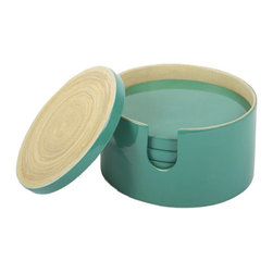 7-Piece Coaster Set, Teal - These coasters add a perfect little pop of color. They are not only decorative, but extremely functional as well.