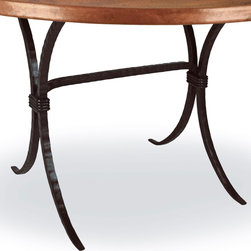 Mathews & Company - Salisbury Dining Table Base Only - This contemporary Salisbury Dining Table Base Only allows you to use your own table top such as granite, custom wood, stone, or glass. Pictured in Black finish.
