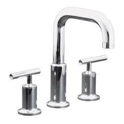 KOHLER - KOHLER K-T14428-4-CP Purist Deck-Mount High Flow Bath Faucet Trim - KOHLER K-T14428-4-CP Purist Deck-Mount High Flow Bath Faucet Trim with Lever Handles in Polished Chrome