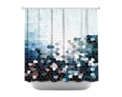 DiaNoche Designs - Shower Curtain Artistic - Patternization I - DiaNoche Designs works with artists from around the world to bring unique, artistic products to decorate all aspects of your home.  Our designer Shower Curtains will be the talk of every guest to visit your bathroom!  Our Shower Curtains have Sewn reinforced holes for curtain rings, Shower Curtain Rings Not Included.  Dye Sublimation printing adheres the ink to the material for long life and durability. Machine Wash upon arrival for maximum softness. Made in USA.  Shower Curtain Rings Not Included.