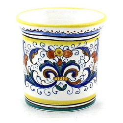 Artistica - Hand Made in Italy - Ricco Deruta: Oval Tumbler - Ricco Deruta: This product is part of the renown Ricco Deruta Collection.
