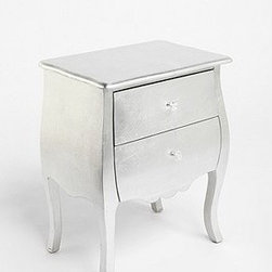 Silver Leaf Side Table - I love the lines on this silver-leaf chest. What little girl wouldn't want a little glam added to her space? It's fun and stylish, yet will blend right in.