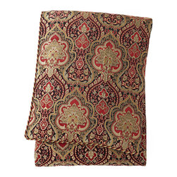 """Isabella Collection by Kathy Fielder - King Kiera Red & Gold Duvet Cover 108"""" x 98"""" - RUBY RED (108X98 KING) - Isabella Collection by Kathy FielderKing Kiera Red & Gold Duvet Cover 108"""" x 98"""""""