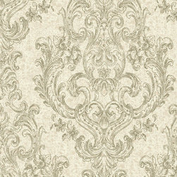 York Wallcoverings - PS3881 Wallpaper, Sample - Prepasted: Paste has already been applied to the back of the wallpaper and is activated with water.
