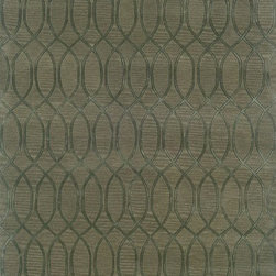 Linon - Transitional Ashton 5'x8' Rectangle SeaGlass Area Rug - The Ashton area rug Collection offers an affordable assortment of Transitional stylings. Ashton features a blend of natural SeaGlass color. Hand Tufted of 100% New Wool the Ashton Collection is an intriguing compliment to any decor.