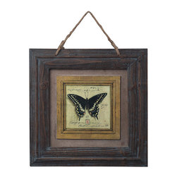 Sterling Industries - Sterling Industries 128-1025 Picture Frame w/ Butterfly Print - Picture Frame (1)