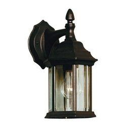 Kenroy - Kenroy 16266BL Custom Fit Traditional Outdoor Wall Sconce - With 5 different potential looks, Custom Fit will let your creative light shine.  Available in Black, Rust or White finishes, you can combine the finials, tails and glass into multiple configurations to find the one that will be just right for your outdoor space.  *Cast Aluminum