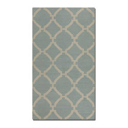Uttermost - Uttermost Bermuda Baby Blue Rug X-2-61017 - Woven wool in baby blue with natural striations.