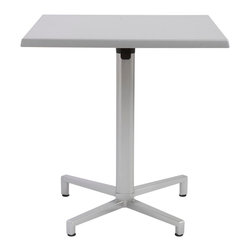 "Eurostyle - Werzalit Square Table 27.5"" - Silver - Werzalit top"