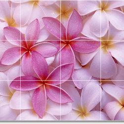 Picture-Tiles, LLC - Flower Picture Mural Tile F320 - * MURAL SIZE: 24x32 inch tile mural using (12) 8x8 ceramic tiles-satin finish.
