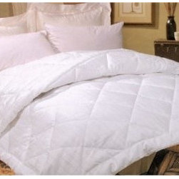 LCM Home Fashions Silk Filled Comforter - Get cozy underneath your LCM Home Fashions Silk Filled Comforter and you'll sleep deeply. Perfect for year-round use, this comforter is stuffed with silk to be lightweight and perfectly warm. A handsome addition to your bed, this comforter has a white, all-cotton damask stripe cover with luxurious 260-thread count. Double-stitched edges and satin piping add detail. This comforter is conveniently machine-washable and comes in your choice of size.Comforter Dimensions:Twin : 86L x 63W in.Full / Queen: 86L x 86W in.King: 86L x 104W in.