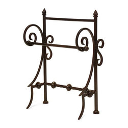 Iron Towel Holder - This Iron holder is a fancy way to display your paper or hand towels in the kitchen or bath