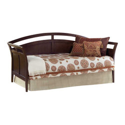 Hillsdale Furniture - Hillsdale Watson Metal Daybed and Suspension Deck in Espresso - Classically designed and constructed of beautiful hardwood with an espresso finish, the Watson daybed is an ideal solution to maximizing space in traditional, sophisticated interiors. With its geometrically cut pattern, elegant curves and deep color, the Watson brings an airy but full presence to any bedroom. The Watson comes with a single trundle bed, allowing it to sleep two people comfortably.