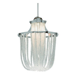 WAC Lighting - WAC Lighting MP-LED332 Canopy Mount LED Pendant Cascade Collection - Traditional / Classic Canopy Mount LED Pendant from the Cascade CollectionDelicate and elegant, this fetching one light canopy mount LED pendant from the Cascade collection is the perfect addition to your classic home. This gorgeous fixture offers tiny crystals with a cascading effect to add majestic style to your home. Featuring an impossibly low 6 watt LED lamp, this fixture is modern technology and classic style.WAC lighting's collection of QUICK CONNECT fixtures includes hundreds of choices to suite your every need. QUICK CONNECT fixtures are available in a wide range of finishes and glass colors to accommodate many design concepts.Features: