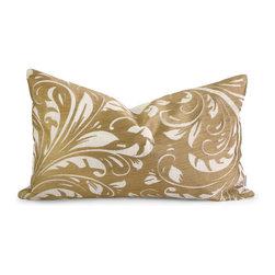 iMax - iMax IK Rozene Embroidered Pillow w/ Down Fill X-78124 - Iffat Khan has developed a luxurious collection of down pillows with embroidered details and top of the line fabrics. Iffat's refined aesthetic is evident in her collection which combines clean modern, classic casual and timeless traditional styles with her own creative twist.
