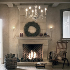 Traditional Indoor Fireplaces by Ancient Surfaces