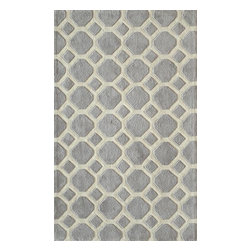 Momeni - Momeni Bliss Bs11 Grey Rug - Blissbs - Bliss is a collection of bold transitional and soft contemporary patterns in earthen tones, hand-tufted from the softest blend of polyester. It features hand-carving for added depth and texture.