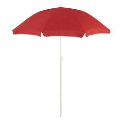 Red Beach Umbrella - Beach picnic? Shove an umbrella in the sand!