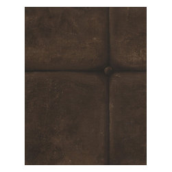 Kathy Kuo Home - British Industrial Old Tile Wallpaper - Leather - This tricky trompe l'oeil wallpaper realistically brings the look of tile to your favorite eclectic setting. Available in your choice of muted colors, it's the ultimate in quirky sophistication.
