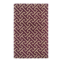 Kaleen - Kaleen Revolution Collection REV04-87 3' x 5' Plum - The color Revolution is here! Trendy patterns with a fashion forward twist of the hottest color combinations in a rug collection today. Transform a room with the complete color makeover you were hoping for and leaving your friends jealous at the same time! Each rug is hand-tufted and hand-carved for added texture in India, with a 100% soft luxurious wool.