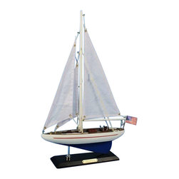 "Handcrafted Model Ships - Enterprise 16"" - Wood Sailboat Centerpiece - Not a model ship kit"