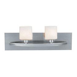 Access Lighting - Access Lighting 53302-BS/OPL Cosmos Modern Bathroom Light - Brushed Steel - Access Lighting 53302-BS/OPL Cosmos Modern Bathroom Light In Brushed Steel