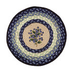 Earth Rugs - CH-312 Blueberry Round Chair Pad 15.5in. - Blueberry Round Chair Pad 15.5 in.