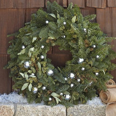 Live Seeded Eucalyptus & Silver Bell Wreath | Pottery Barn