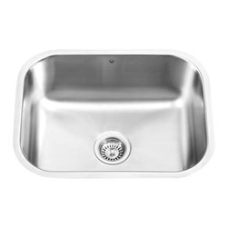Vigo - VIGO VG2318 Undermount Single Kitchen Sink - The VIGO undermount kitchen sink complements any decor and is highly functional. Every design detail is featured in this sink to meet your needs.