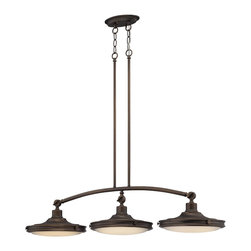 Nuvo Lighting - Nuvo Lighting 62/164 Contemporary Antique Brass   PendantHouston Collection - Houston - (3) LED Island Pendant