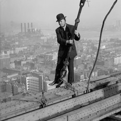 Photographer on 33rd Floor Metropolitan Building, New York Print - Photographer on 33rd floor Met. Bldg., New York. Photographed by the Bain News Service in 1908 on 5x7 glass plate negative.