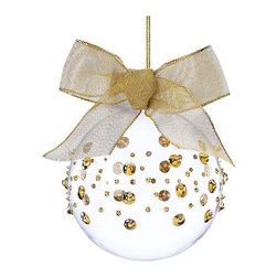 Lenox Christmas Ornaments, Gold Wrap - Here's a gold spotted ornament that is a little rockstar.