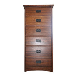 SOLD OUT! Craftsman Style 6-Drawer Fruitwood Tall Chest - $695 Est. Retail - $40 -
