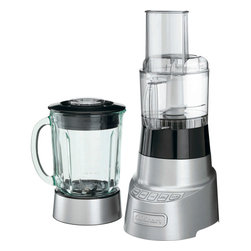 Cuisinart - Cuisinart SmartPower Deluxe Duet Blender/Food Processor - 3-cup food processor attachment with feed tube and liquid pusher